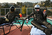 Daft Punk photographed exclusively in West Hollywood CA USA - May 01,2006.  Photo credit: Zach Cordner / IconicPix