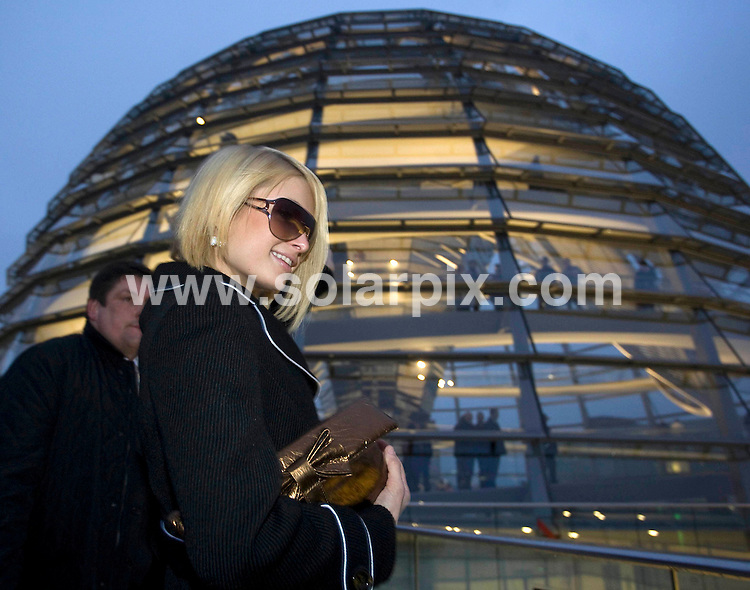 **ALL ROUND PICTURES FROM SOLARPIX.COM**.**SYNDICATION RIGHTS FOR UK AND SPAIN ONLY**.Paris Hilton visits the Reichstag in Berlin, Germany..12th December 2007..JOB REF: 5496 CPR        DATE: 12_12_2007.**MUST CREDIT SOLARPIX.COM OR DOUBLE FEE WILL BE CHARGED* *UNDER NO CIRCUMSTANCES IS THIS IMAGE TO BE REPRODUCED FOR ANY ONLINE EDITION WITHOUT PRIOR PERMISSION*