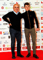 Giornate Professionali del Cinema 2014     photo call del film Soldato Semplice<br /> Paolo Cevoli and Antonio Orefice during the professional days of cinema in Sorrento december 03 , 2014                         Giornate Professionali del Cinema 2014