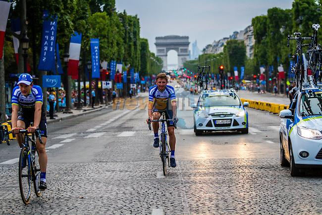 Team Netapp-Endura, Rider parade on the Champs-Élysées, Tour de France, Stage 21: Évry > Paris Champs-Élysées, UCI WorldTour, 2.UWT, Paris Champs-Élysées, France, 27th July 2014, Photo by Thomas van Bracht