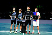 5th November 2017, Paris, France. Rolex Masters mens tennis doubles tournament final;  Ivan Dodig (Cro) and Marcel Granollers (Esp)<br />