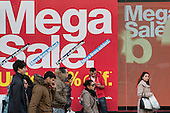 January sales, Oxford Street, London.