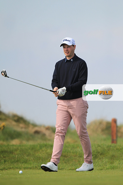 Gary McDermott (Carton House) on the 8th tee during Round 4 of the Flogas Irish Amateur Open Championship at Royal Dublin on Sunday 8th May 2016.<br /> Picture:  Thos Caffrey / www.golffile.ie