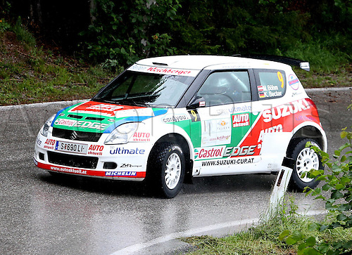 13 07 2012  Pictures Rally Schneeberg country Rally AUT State Championships Tube in Mountains Austria 13 Jul 12 motor aviation Rally Schneeberg country Rally Oesterreichische State Championships Picture shows Michael Boehm and Katrin Becker AUT Suzuki