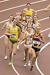 COLLEGE STATION, TX - MARCH 11: The women's 3000 meter run during the Division I Men's and Women's Indoor Track & Field Championship held at the Gilliam Indoor Track Stadium on the Texas A&M University campus on March 11, 2017 in College Station, Texas. (Photo by Michael Starghill/NCAA Photos/NCAA Photos via Getty Images)