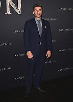 """WESTWOOD, CA - FEBURARY 13:  Oscar Isaac at the Los Angeles premiere of """"Annihilation"""" at the Regency Village Theatre on February 13, 2018 in Westwood, California. (Photo by Scott Kirkland/PictureGroup)"""
