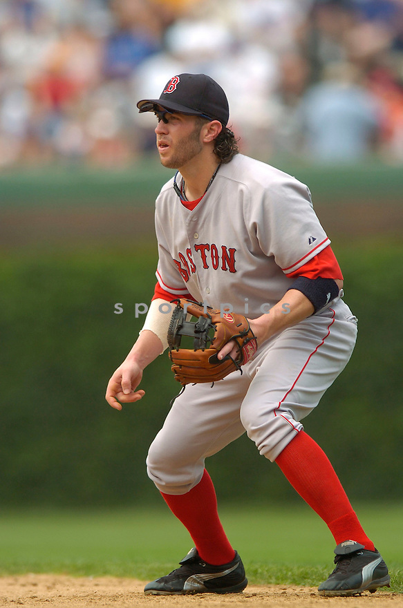Mark Bellhorn, of the Boston Red Sox, in action against the Chicago Cubs  , on June 10, 2005...Cubs win 14-6...David Durochiki / SportPics