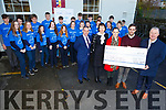 Double presentation from St Pats Secondary School and Presentation Covent Secondary School Castleisland of a cheque of &euro;645 to Pieta House at St Patrick&rsquo;s College in Castleisland on Tuesday<br /> L-r, Denis Donovan (Principal of St Pats), Catriona Broderick (Principal of Presentation), Karen O&rsquo;Connor, Tim Long, Con O&rsquo;Connor (Pieta House)