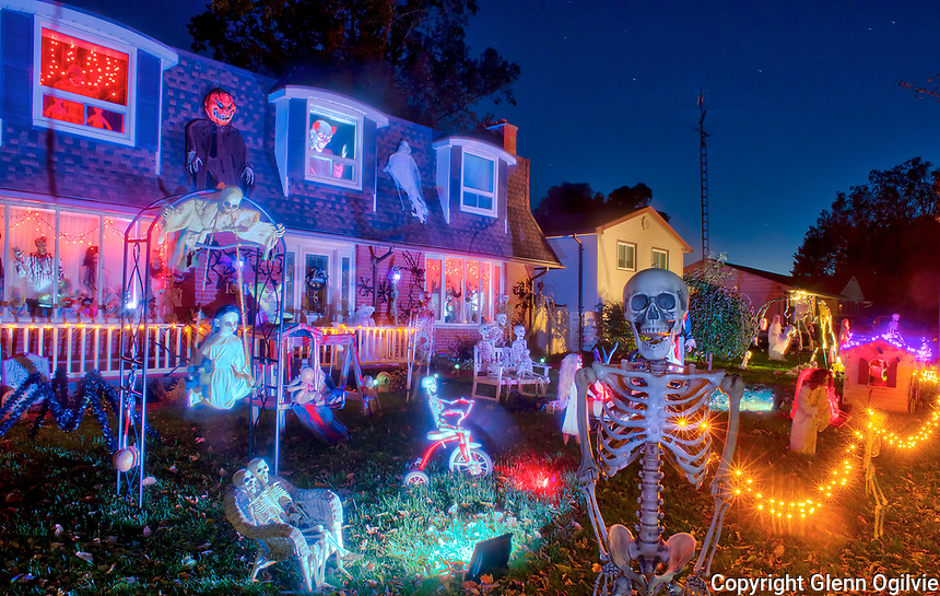 Halloween display at 1065 and 1071 Cathcart Blvd.