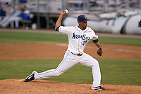 August 24, 2010: Everett AquaSox pitcher Ogui Diaz (23) during a Northwest League game against the Tri-City Dust Devils at Everett Memorial Stadium in Everett, Washington.