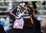 Customized caps seen at the Western Nevada College commencement at the Pony Express Pavilion, in Carson City, Nev., on Monday, May 19, 2014. <br /> Photo by Cathleen Allison/Nevada Photo Source