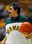 12 December 2010: University of Vermont Catamount forward Evan Fjeld, a Senior from Durham, NC, warms up prior to action against the Marist College Red Foxes at Patrick Gymnasium in Burlington, Vermont. The Catamounts (7-2) defeated the Red Foxes  75-67 notching their 7th win of the season, and their best start since the '63-'64 season. Mandatory Credit: Ed Wolfstein Photo