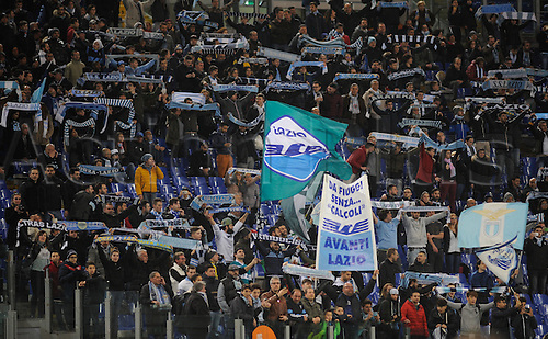 25.02.2016. Stadio Olimpico, Rome, Italy. Uefa Europa League, Return leg of SS Lazio versus Galatasaray. Fans of S.S. Lazio