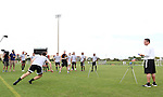 09 January 2015: Players take turns at a relay test. The 2015 MLS Player Combine was held on the cricket oval at Central Broward Regional Park in Lauderhill, Florida.