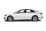 Car driver side profile view of a 2018 Audi A4 Premium 4 Door Sedan