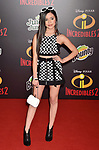 HOLLYWOOD, CA - JUNE 05: Jenna Ortega attends the premiere of Disney and Pixar's 'Incredibles 2' at the El Capitan Theatre on June 5, 2018 in Los Angeles, California.