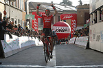 Bauke Mollema (NED) Trek-Segafredo wins the Satge 2 of Settimana Internazionale Coppi e Bartali 2018 running 130km from Riccione to Sogliano al Rubicone. 23rd March 2018.<br /> Picture: Roberto Bettini/BettiniPhoto | Cyclefile<br /> <br /> <br /> All photos usage must carry mandatory copyright credit (© Cyclefile | Roberto Bettini/BettiniPhoto)