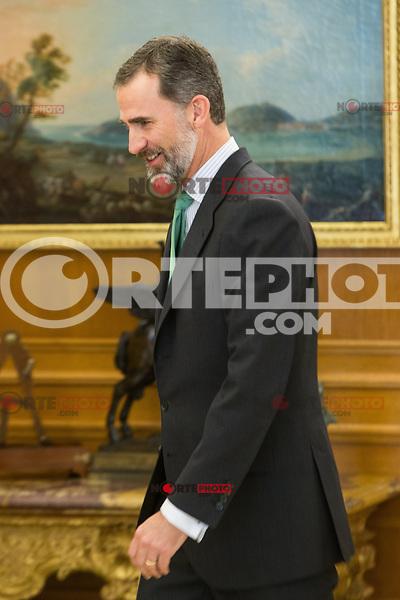 Spanish King Felipe and Mayor of Santiago de Compostela, Martino Noriega Sanchez attends at Zarzuela's Palace in Spain. March 76, 2017. (ALTERPHOTOS / Rodrigo Jimenez) NortePhoto.com