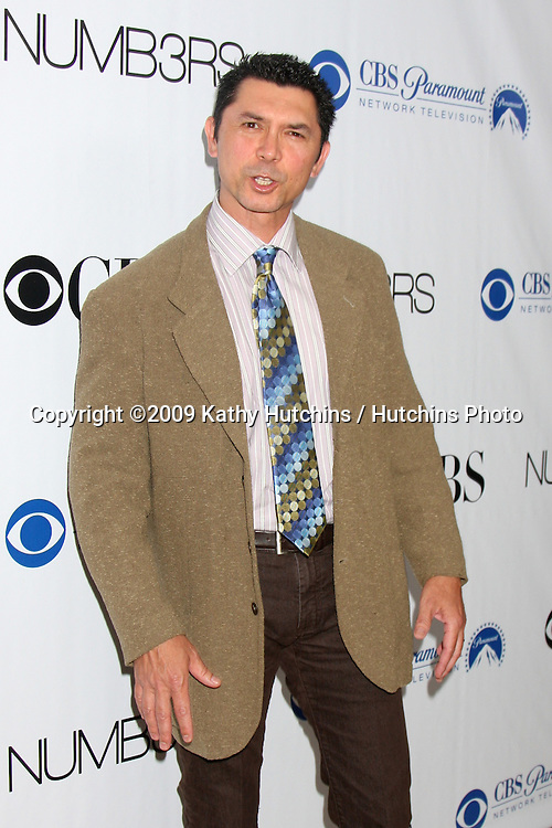 Lou Diamond Phillips arriving at the Numb3rs 100th Episode Party at the Sunset Tower Hotel in West Hollywood,  California on April 21, 2009.©2009 Kathy Hutchins / Hutchins Photo....                .