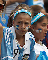 Argentina Fan. In an international friendly (Clash of Titans), Argentina defeated Brazil, 4-3, at MetLife Stadium on June 9, 2012.