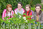 GREENFINGERS: Checking out the new vegetable patch at Nagle-Rice national school in Milltown on Thursday were l-r: Chelsea Flynn, Katie Doyle, Nicole Quinn and Clodagh McKenna.