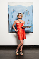 Chocolatier Melissa Parks at a cannabis after party in Denver, Colorado, Saturday, July 19, 2014. <br /> <br /> Photo by Matt Nager