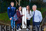 I T Students Simon Cooney, Emer O'Connell, Mairead Brosnan and lecturer Noel Mulligan display the saplings that will be planted in 10 National Schools in Kerry and students can then watch the trees grow as they progress through national school.
