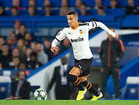 Valencia Rodrigo Moreno during the UEFA Champions League match between Chelsea and Valencia  at Stamford Bridge, London, England on 17 September 2019. Photo by Andrew Aleksiejczuk / PRiME Media Images.