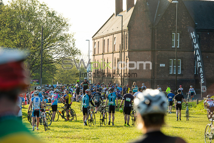 Picture by Allan McKenzie/SWpix.com - 06/05/2018 - Cycling - Maserati Human Race Sportive, Leeds, England - Human race, branding, riders.