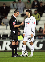 Pictured: Jordi Gomez of Swansea City in action  <br /> Re: Carling Cup Round Four, Swansea City Football Club v Watford at the Liberty Stadium, Swansea, south Wales, Tuesday 11 November 2008.<br /> Picture by Dimitrios Legakis Photography (Athena Picture Agency), Swansea, 07815441513
