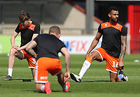 Blackpool's Curtis Tilt during the pre-match warm-up <br /> <br /> Photographer David Shipman/CameraSport<br /> <br /> The EFL Sky Bet League One - Scunthorpe United v Blackpool - Friday 19th April 2019 - Glanford Park - Scunthorpe<br /> <br /> World Copyright © 2019 CameraSport. All rights reserved. 43 Linden Ave. Countesthorpe. Leicester. England. LE8 5PG - Tel: +44 (0) 116 277 4147 - admin@camerasport.com - www.camerasport.com