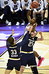 COLUMBUS, OH - APRIL 1: Teaira McCowan #15 of the Mississippi State Bulldogs tries to grab a rebound away from Kathryn Westbeld #33 of the Notre Dame Fighting Irish and Jessica Shepard #23 of the Notre Dame Fighting Irish during the championship game of the 2018 NCAA Division I Women's Basketball Final Four at Nationwide Arena in Columbus, Ohio. (Photo by Tim Nwachukwu/NCAA Photos via Getty Images)