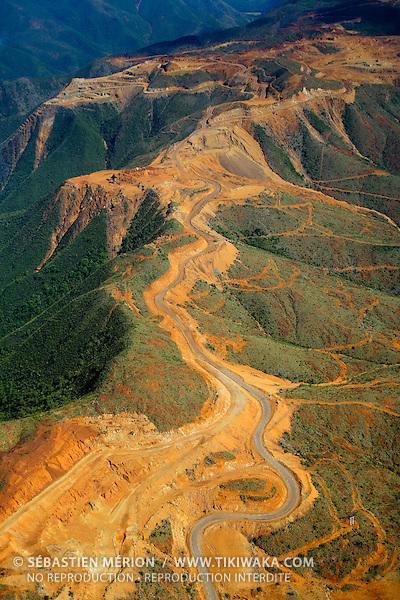 Mine de nickel de Poro (SLN), relief Mè Jawari, Poro, côte Est, Nouvelle-Calédonie