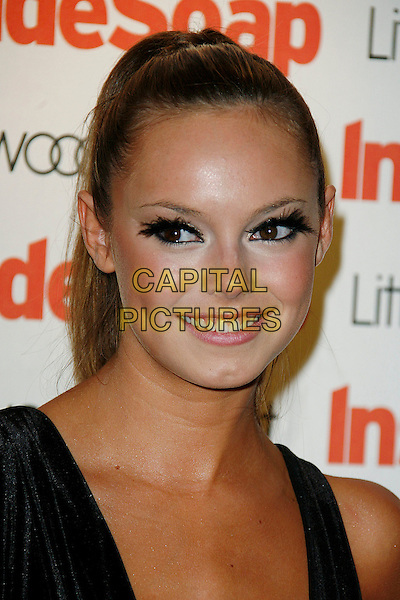 HANNAH TOINTON .at the Inside Soap Awards, London, England, UK, September 29, 2008..portrait headshot false eyelashes ponytail.CAP/DAR.©Darwin/Capital Pictures