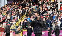 Lincoln City manager Danny Cowley applauds the fans before kick off<br /> <br /> Photographer Chris Vaughan/CameraSport<br /> <br /> Emirates FA Cup First Round - Lincoln City v Northampton Town - Saturday 10th November 2018 - Sincil Bank - Lincoln<br />  <br /> World Copyright &copy; 2018 CameraSport. All rights reserved. 43 Linden Ave. Countesthorpe. Leicester. England. LE8 5PG - Tel: +44 (0) 116 277 4147 - admin@camerasport.com - www.camerasport.com