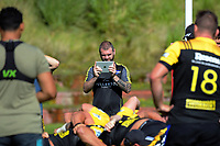 Analyst Jayson Ross videoes the Hurricanes rugby union training at Rugby League Park in Wellington, New Zealand on Wednesday, 24 January 2018. Photo: Dave Lintott / lintottphoto.co.nz
