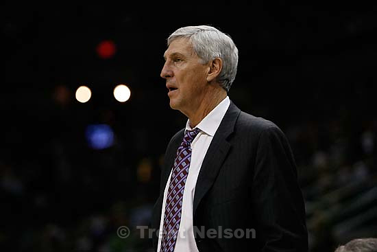 jazz coach jerry sloan San Antonio - Utah Jazz vs. San Antonio Spurs, NBA basketball, Western Conference Finals Game One..5.20.2007