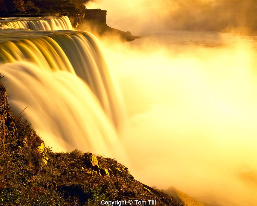 Summer Sunset at Niagara Falls, Niagara Reservation State Park, New York