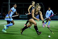 Kirsten Pearce during the international hockey match between the Blacksticks Women and India, Rosa Birch Park, Pukekohe, New Zealand. Tuesday 16  May 2017. Photo:Simon Watts / www.bwmedia.co.nz