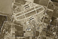historical aerial photograph Moffett Field, Mountain View, California 1948