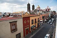 Views of Puebla from the Museo Amparo. city of Puebla, Puebla, Mexico