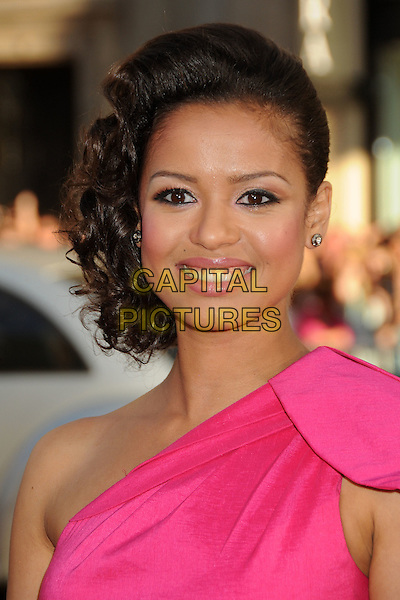 "Gugu Mbatha-Raw.""Larry Crowne"" Los Angeles Premiere held at Grauman's Chinese Theatre, Hollywood, California, USA..June 27th, 2011.headshot portrait pink one shoulder.CAP/ADM/BP.©Byron Purvis/AdMedia/Capital Pictures."