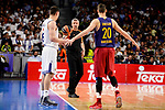 Referee Luigi Lamonica, Real Madrid's Jonas Maciulis and FC Barcelona Lassa's Marcus Eriksson duringTurkish Airlines Euroleague match between Real Madrid and FC Barcelona Lassa at Wizink Center in Madrid, Spain. March 22, 2017. (ALTERPHOTOS/BorjaB.Hojas)