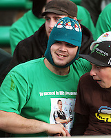 Manawatu fans during the Air NZ Cup rugby match between Manawatu Turbos and Counties-Manukau Steelers at FMG Stadium, Palmerston North, New Zealand on Sunday, 2 August 2009. Photo: Dave Lintott / lintottphoto.co.nz