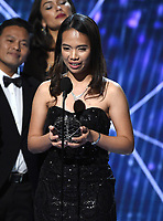 MOUNTAIN VIEW, CA - DECEMBER 3: Breakthrough Junior Prize winner Hillary Andales appear on the 6th Annual Breakthrough Prize at NASA Ames Research Center on December 3, 2017 in Mountain View, California. (Photo by Frank Micelotta/NatGeo/PictureGroup)