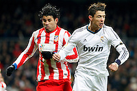 Cristiano Ronaldo and Diego Costa during La Liga Match. December 01, 2012. (ALTERPHOTOS/Caro Marin)
