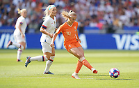DECINES-CHARPIEU, FRANCE - JULY 07: Jackie Groenen #14 during the 2019 FIFA Women's World Cup France Final match between Netherlands and the United States at Groupama Stadium on July 07, 2019 in Decines-Charpieu, France.