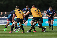 Tjiuee Uanivi of London Scottish during the Greene King IPA Championship match between London Scottish Football Club and Ealing Trailfinders at Richmond Athletic Ground, Richmond, United Kingdom on 8 September 2018. Photo by David Horn.
