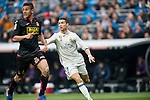Cristiano Ronaldo of Real Madrid fights for the ball with Oscar Duarte of RCD Espanyol during the match Real Madrid vs RCD Espanyol, a La Liga match at the Santiago Bernabeu Stadium on 18 February 2017 in Madrid, Spain. Photo by Diego Gonzalez Souto / Power Sport Images