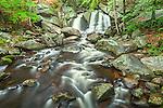 Trapp Falls in Willard Brook State Forest, Townsend, Massachusetts, USA